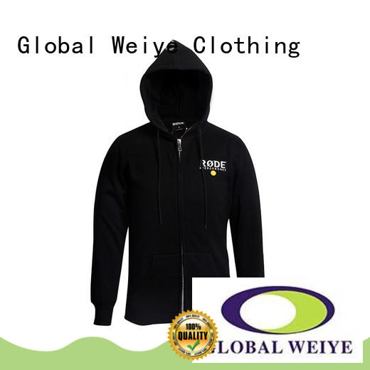 mens hooded zip up sweatshirts 100 Global Weiye Brand long zip up hoodie