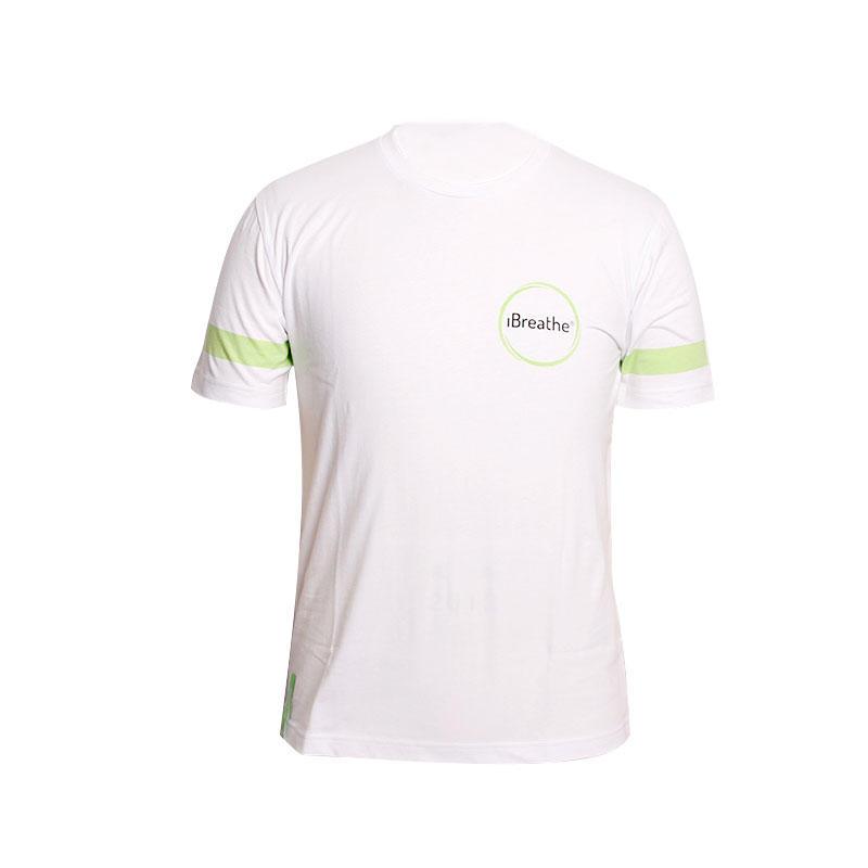 T shirt printing company logo in front custom