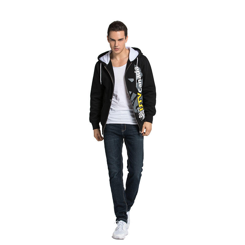 Hoodie Men Zip Up 100% Cotton 280 Gsm Fleece Custom