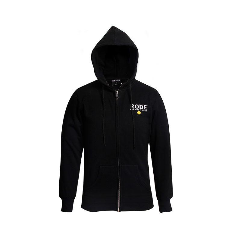 Oversized hoodie men fleece Embroidery zipper up