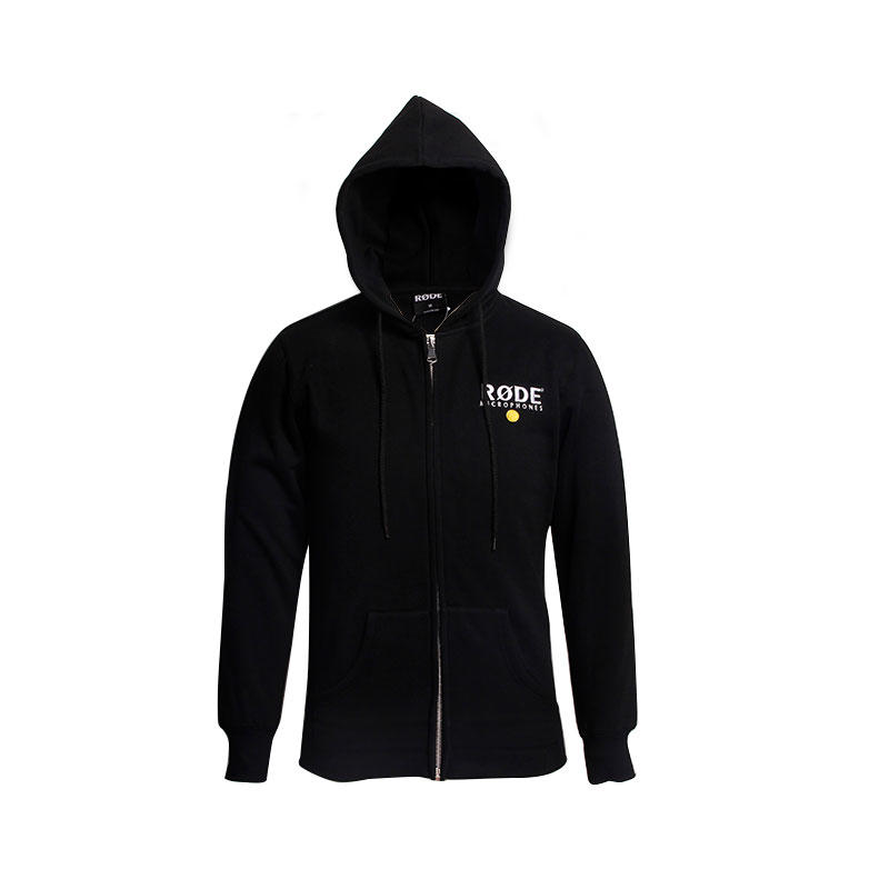 Oversized hoodie men fleece Embroidery zipper up