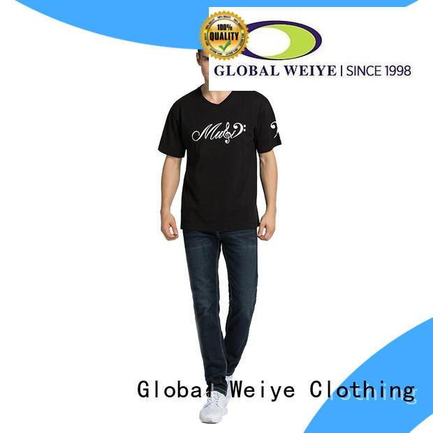 Global Weiye Brand design us printing quality mens t shirts
