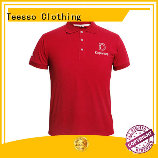 Teesso knitted polo shirt mens design your own logo for guys