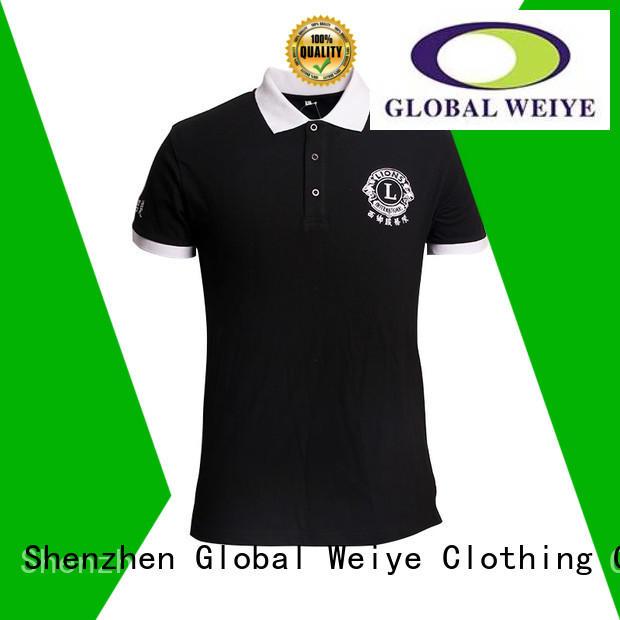 fit logo quality polo shirts Global Weiye Brand