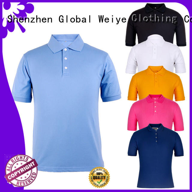 Global Weiye new polo tops design your own logo from china