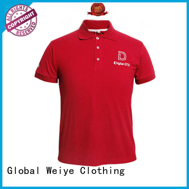 Global Weiye latest men's cotton polo shirts striped from