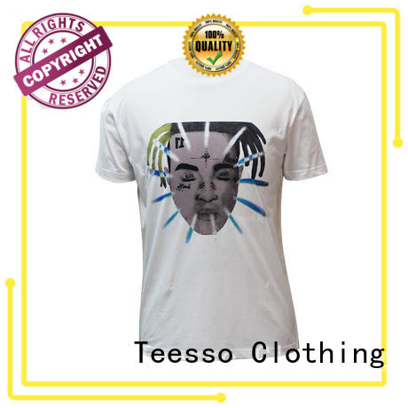 Teesso slik mens tees company for promotion