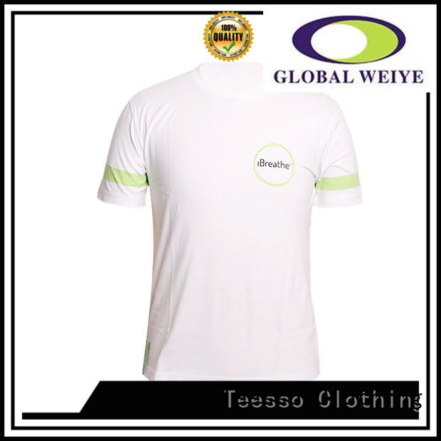 Teesso logo cool shirts for men suppliers in shenzhen