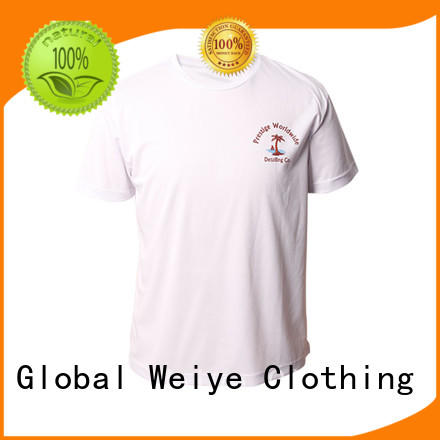 Global Weiye Brand design printing quality mens t shirts manufacture