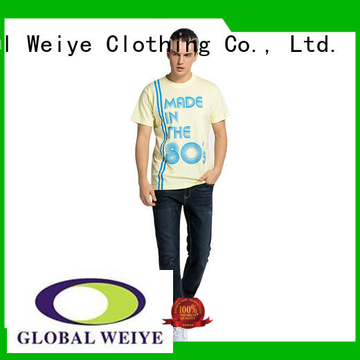 design beautiful quality mens t shirts mens printing Global Weiye company