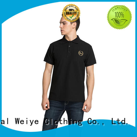 Global Weiye collar short sleeve polo embroidery from china