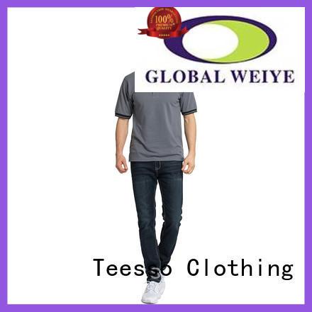 Teesso custom short sleeve polo company for men