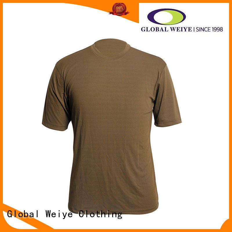 Global Weiye Brand blank cotton quality blank t shirts manufacture