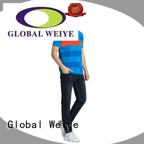 Global Weiye mens designer polo shirts embroidery for sale