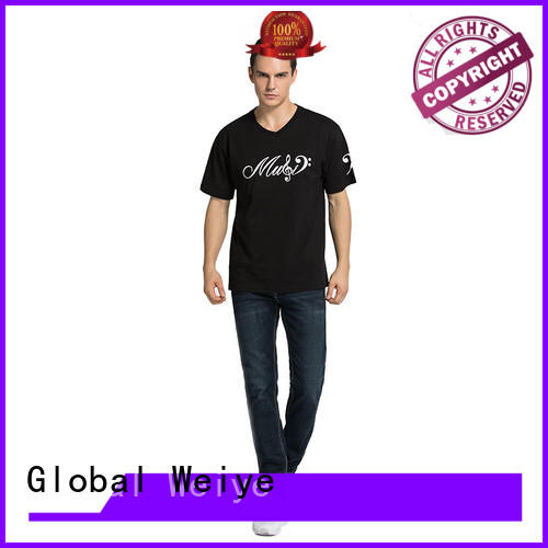 Global Weiye newly printing t shirt on promotional for women