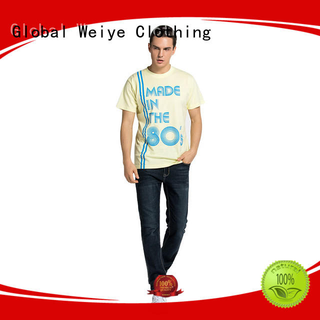 Global Weiye pattern cool shirts for men high quality wholesalers