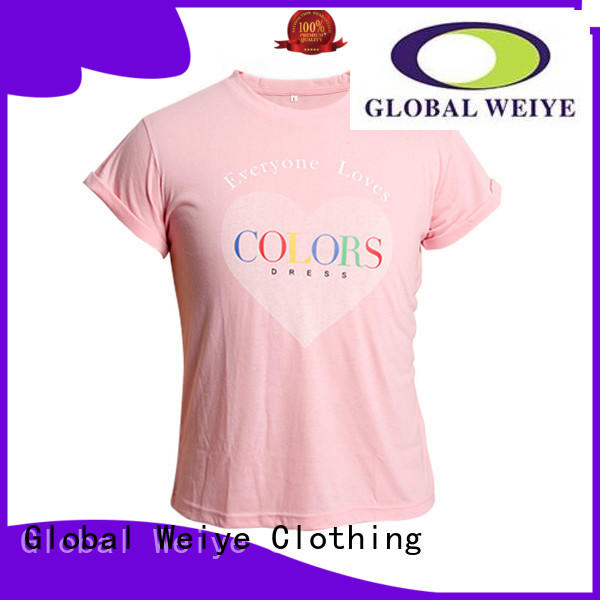 Hot standard mens casual tee shirts us Global Weiye Brand