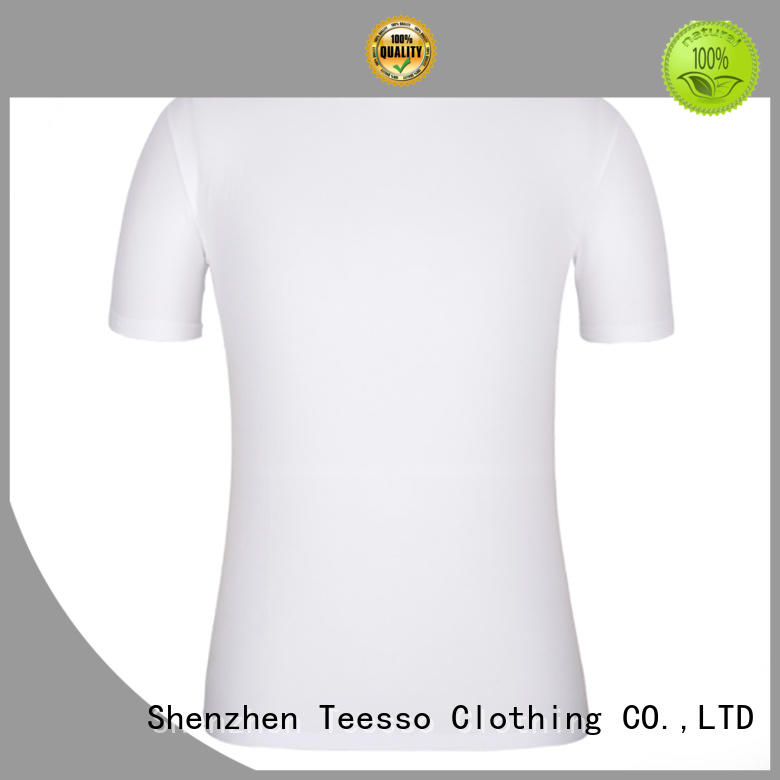 Teesso short high quality blank t shirts with crew neck wholesale