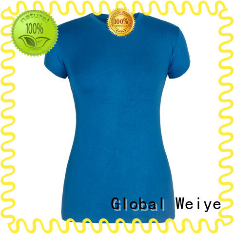 Global Weiye high quality blank t shirts with crew neck for women
