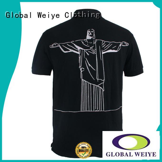 Global Weiye oem service mens polo sweatshirt design your own logo for guys