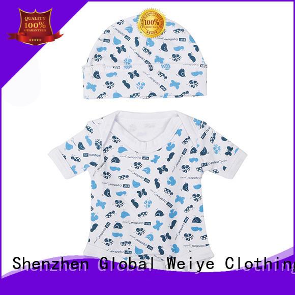 soft infant suit with envelope neck for girl Global Weiye