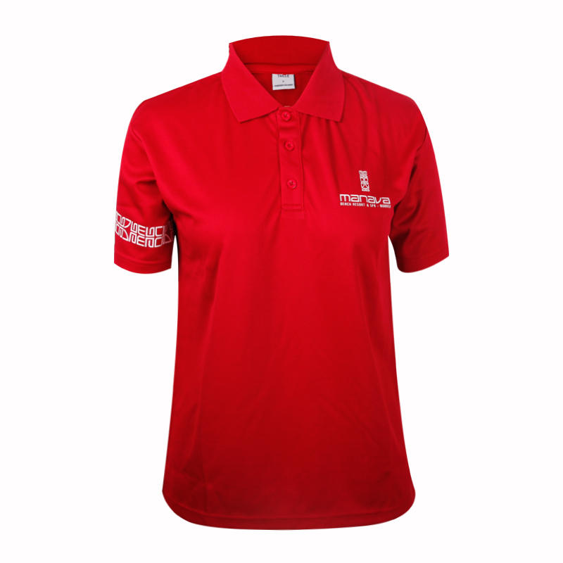 Teesso colored ladies cotton polo shirts with zipper for ladies-1