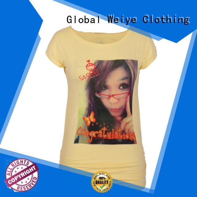 quality t shirt womens customized for sale Global Weiye