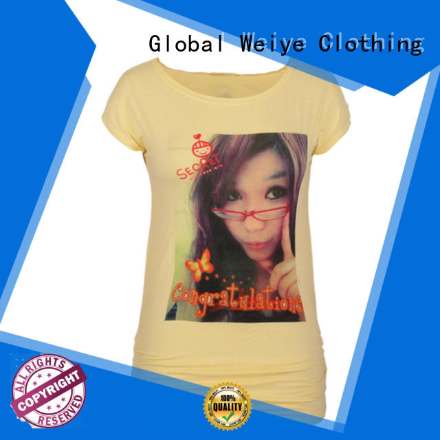 quality t shirt womens customized for sale Global Weiye