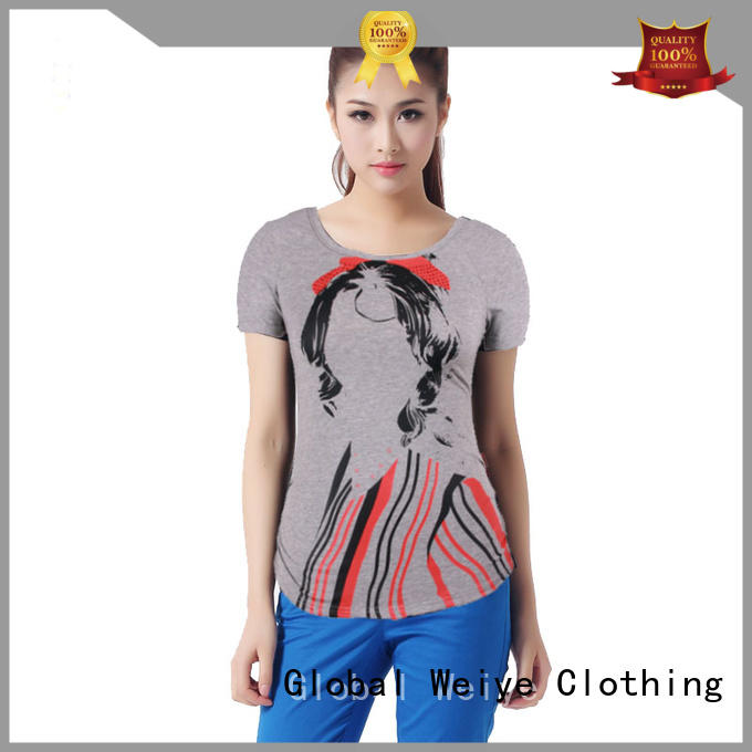 Global Weiye cool basic t shirts women's printed for girls
