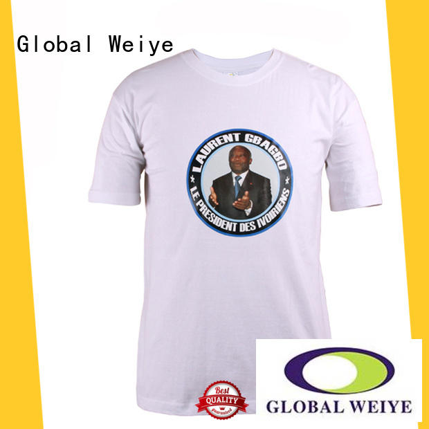 Global Weiye basic t shirt campaign nguesso for sale