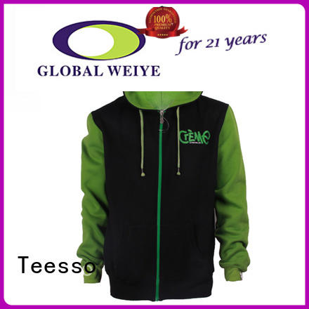 Teesso cute zip up hoodies oem for men
