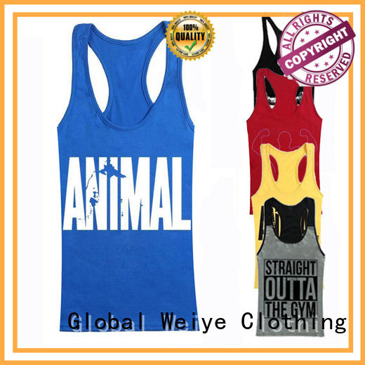 Global Weiye sleeveless tops mens bodybuilding for men