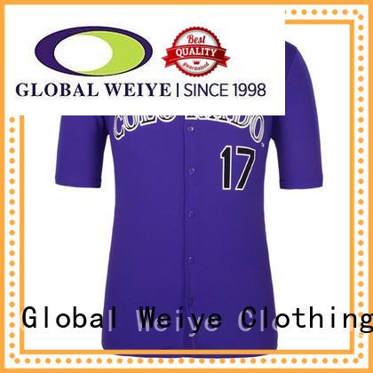 latest baseball uniform shirts new for event Global Weiye