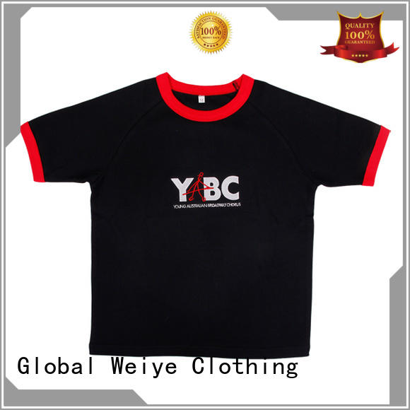 Global Weiye style cool kids t shirts long round for children