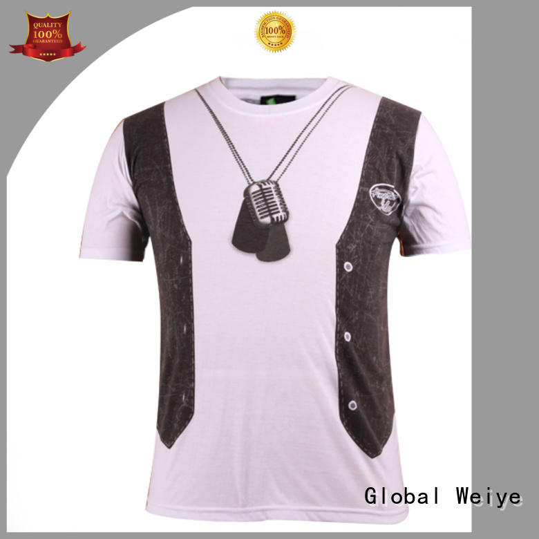 printing quality mens t shirts oem Global Weiye company