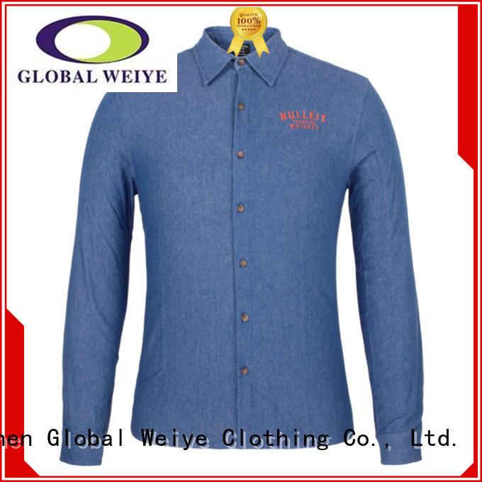 Global Weiye yellow uniform shirt office shirt for men