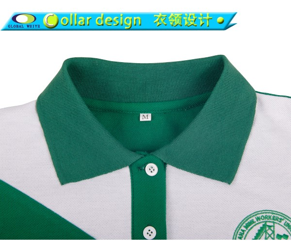 colored ladies cotton polo shirts design for ladies-4