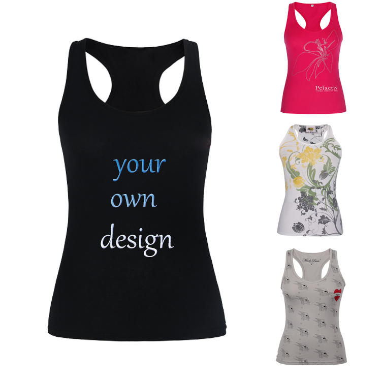 Women Tank Top Fitness Yoga Gym Stringer Custom