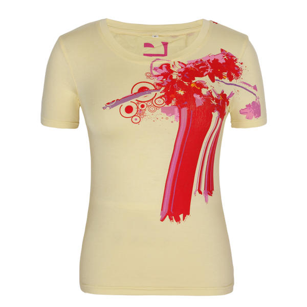 New style short sleeve 100%cotton fashion orange t shirt