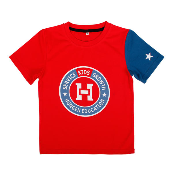 Unique kids clothes 100%cotton with printing logo