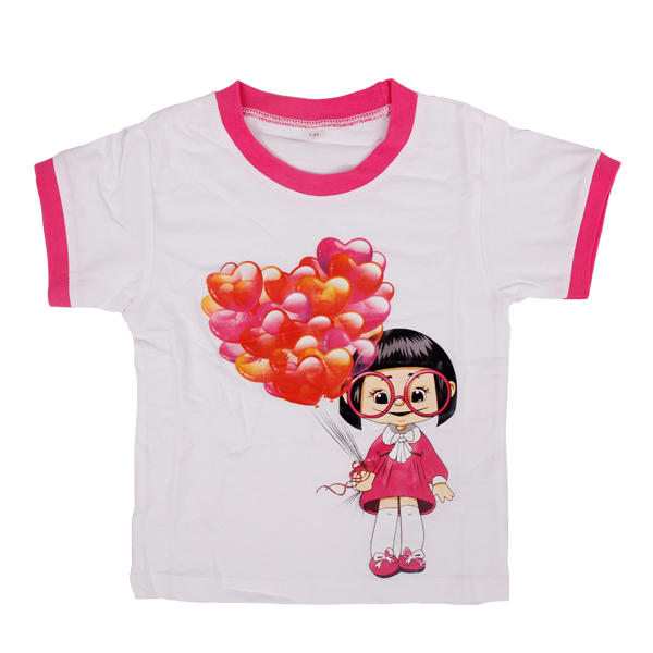 White tees clothes for kids girls