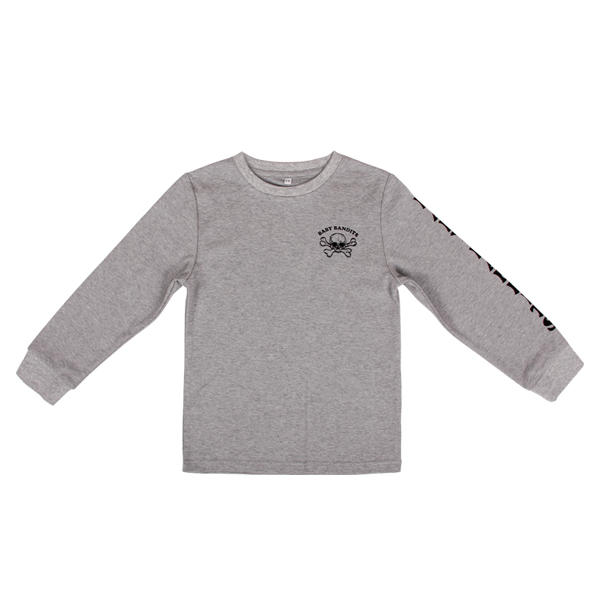 Long sleeves kids clothes with Round neck