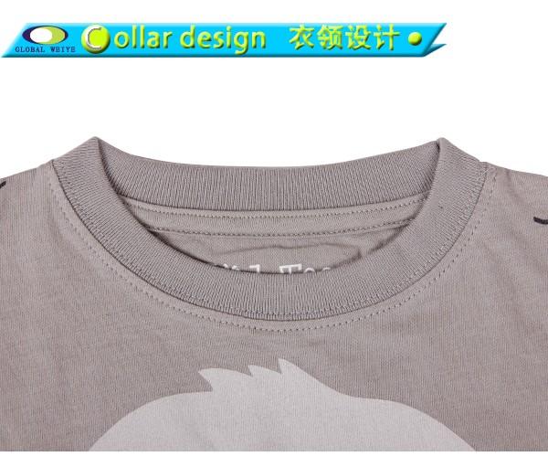 Global Weiye design kids t shirt contrast for girls-4