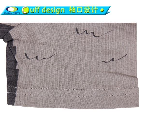 Global Weiye design kids t shirt contrast for girls-5