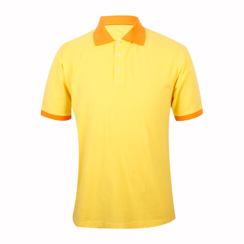 Yellow polo shirt cheap OEM in china