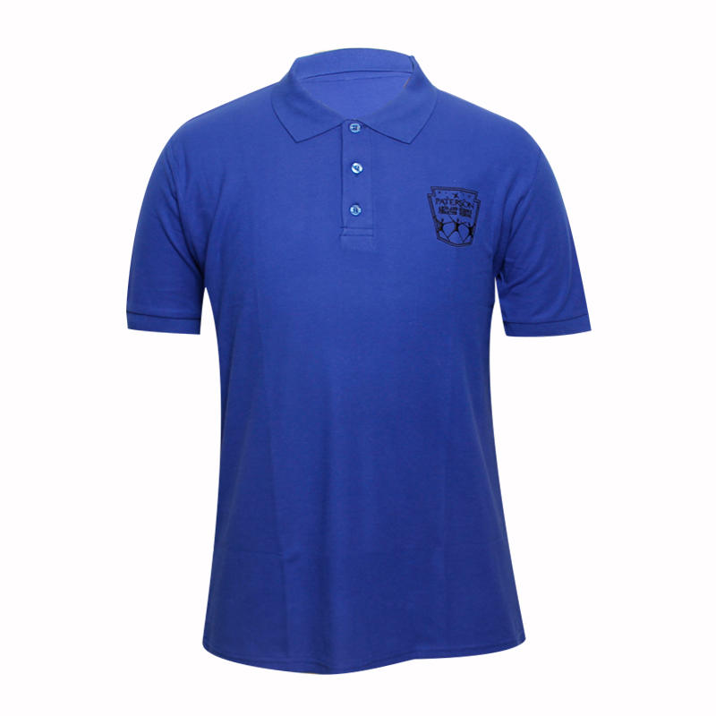 Blue or pink polo shirts custom in china