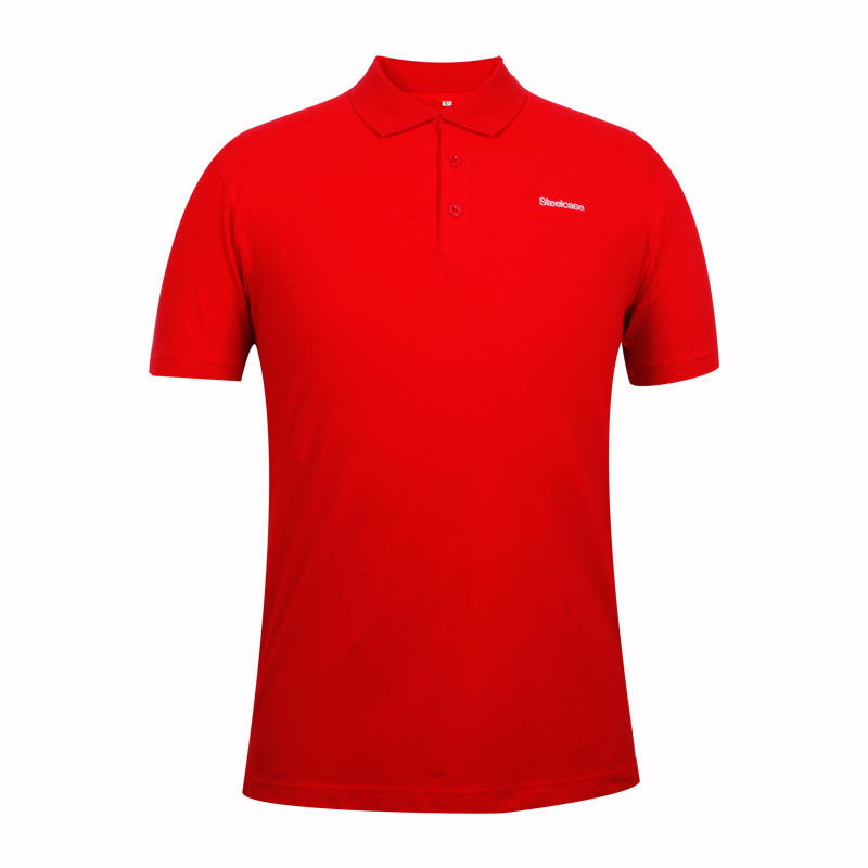 Red cotton polo shirts with Embroidery logo
