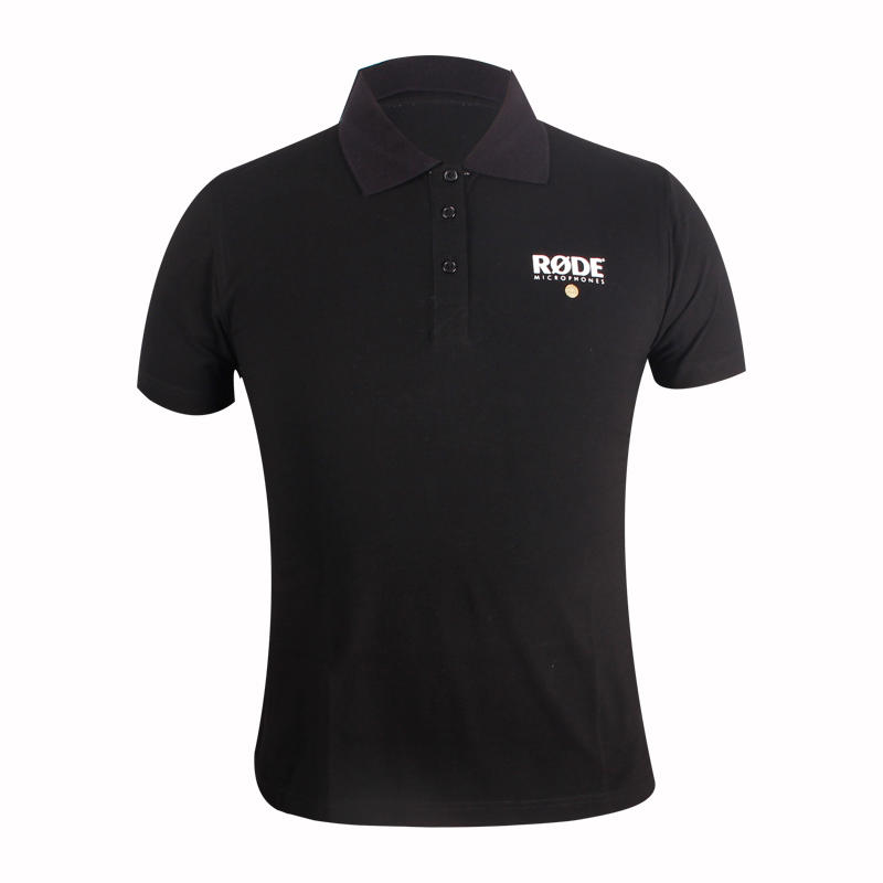 black polo shirt custom in china