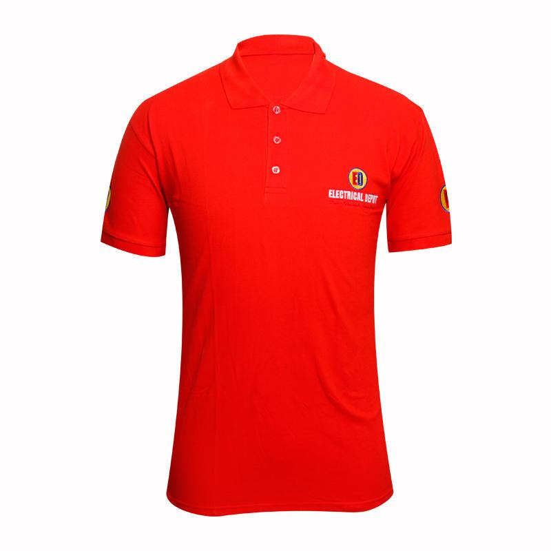 Global Weiye high quality mens long sleeve polo tops embroidery