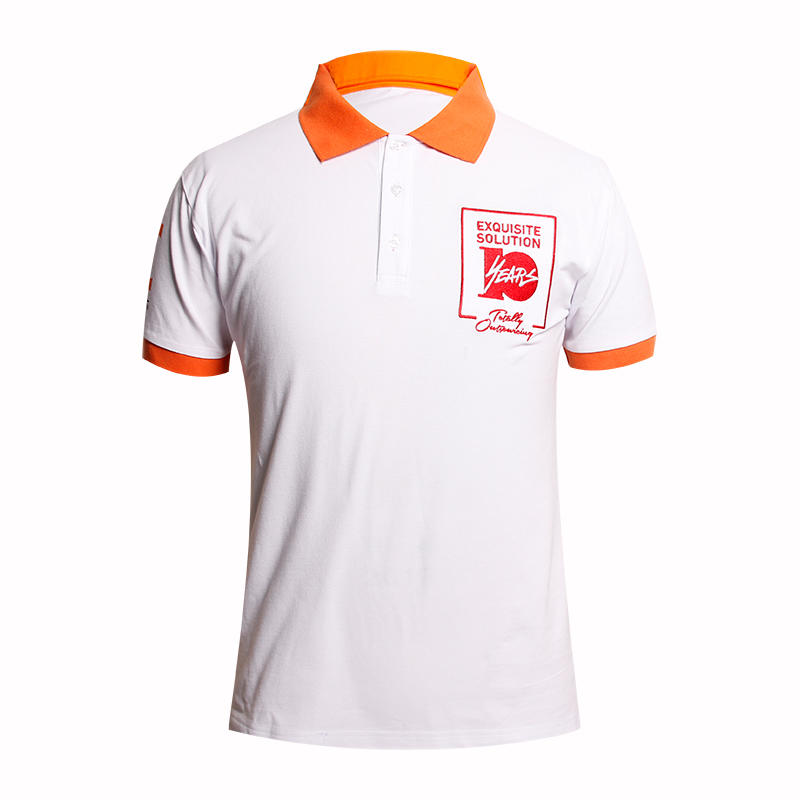 Custom printing logo white polo t shirt